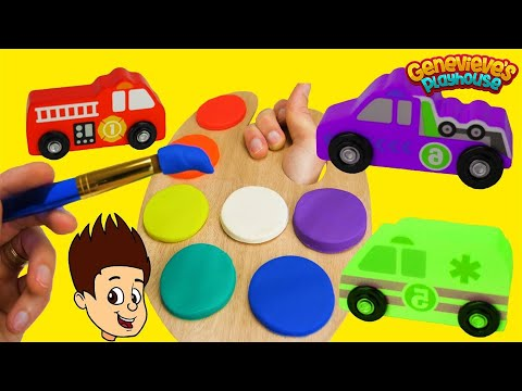 Thumbnail: Best Toddler Learning Video for Kids Wrong Color Play Doh Paint Toy Car Names Movie!