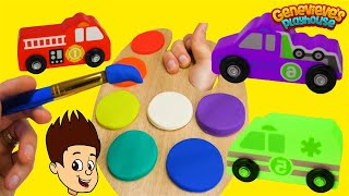 Best Toddler Learning Video for Kids Wrong Color Play Doh Paint Toy Car Names Movie!