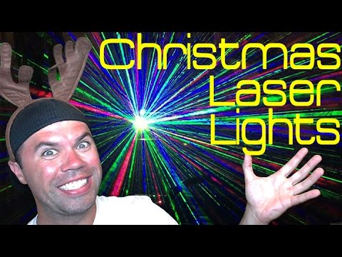Christmas Laser Lights | One Light Covers 2,500sq ft!! - YouTube
