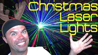 christmas laser lights   one light covers 2 500sq ft