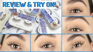 KISS BROADWAY EYELASHES REVIEW & TRY ON! 10 PAIRS!