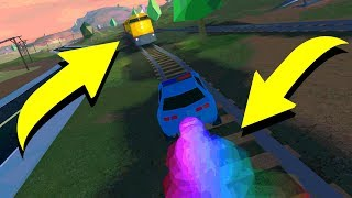 MAX SPEED ROCKET FUEL VS TRAIN! (Roblox Jailbreak)