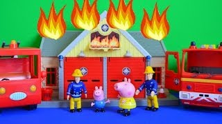 Fireman sam Full Episode Peppa pig Saves The Day Fire engine Fireman sam story
