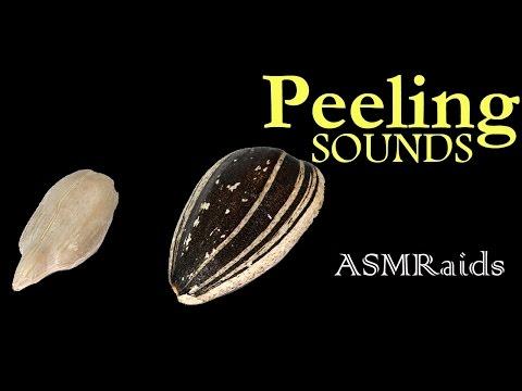 (ASMR) peeling sunflower seeds