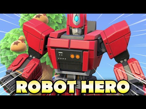 🤖 How To Craft An EPIC ROBOT HERO In Animal Crossing New Horizons!