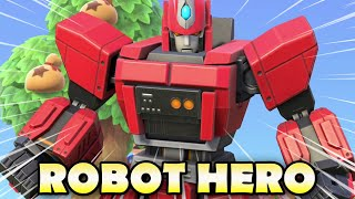 How To Craft An EPIC ROBOT HERO In Animal Crossing New Horizons!