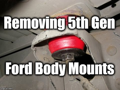 2016 Ford Bronco >> Removing 5th Gen Ford Truck Body Bushings From Frame - YouTube