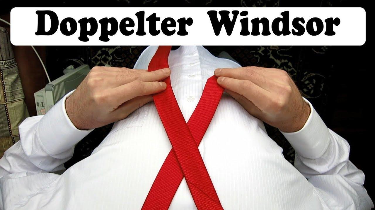 Krawatte Binden Doppelter Windsor Krawattenknoten Youtube