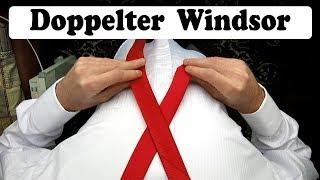 Krawatte binden - Doppelter Windsor Krawattenknoten