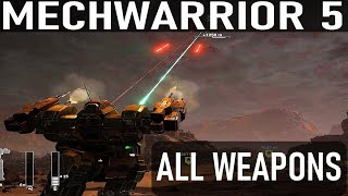Mechwarrior 5: Mercenaries - All Weapons