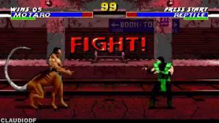 Ultimate Mortal Kombat Trilogy Hack MOTARO SEGA GENESIS