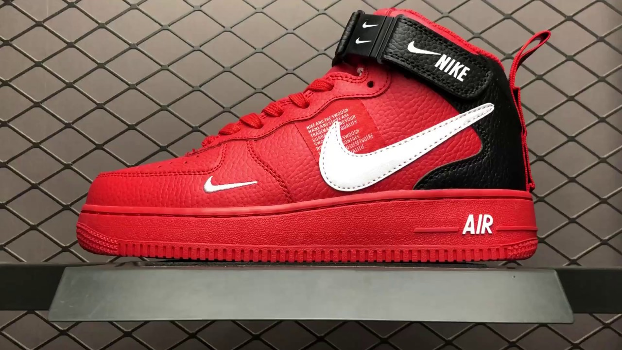 116d9c704e2f1 $49 Nike Air Force 1 MID AF1 804609-605 Mens us7-10 - YouTube