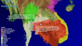 Animated Time Map of the Khmer Empire & Southeast Asia (100-1550 A.D.)
