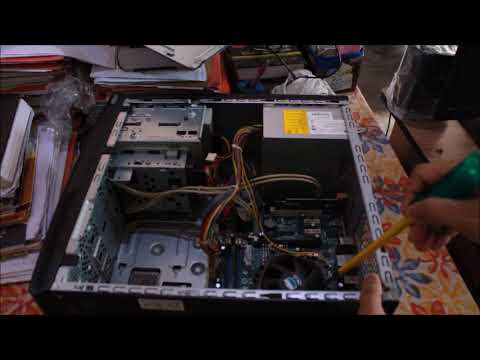 How to disassemble CPU and clean dust | CPU cleaning | Compaq Presario CPU |