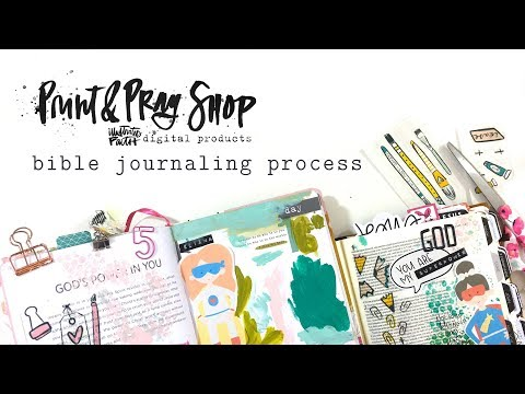 Print & Pray Bible Journaling Process | 100 Days Art Elements