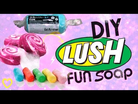 ✁ DIY pain moussant façon LUSH - fun soap