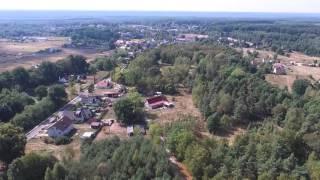 Ławszowa, leśna wieś nad Kwisą okiem drona