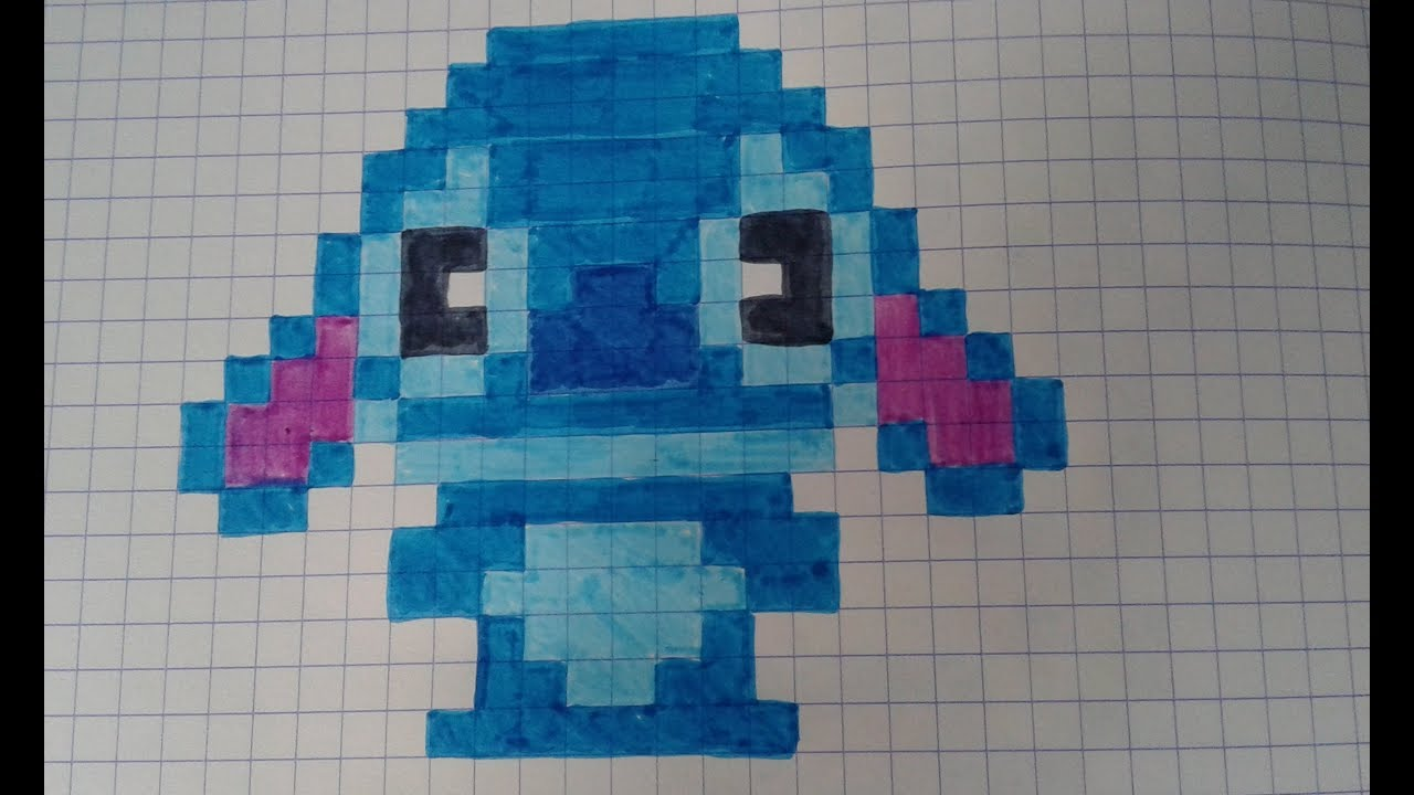 Pixel Art Stitch Speed Draw Youtube