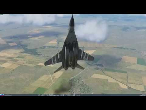 DCS - Playing about with the new MIG-29 physics. |