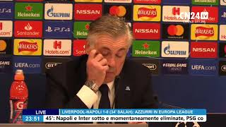 Champions League, Carlo Ancelotti in conferenza post Liverpool-Napoli