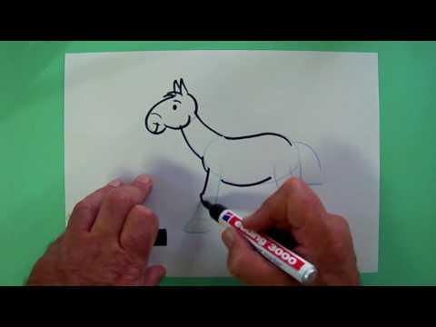 Wie malt man ein Pferd? – Zeichnen für Kinder