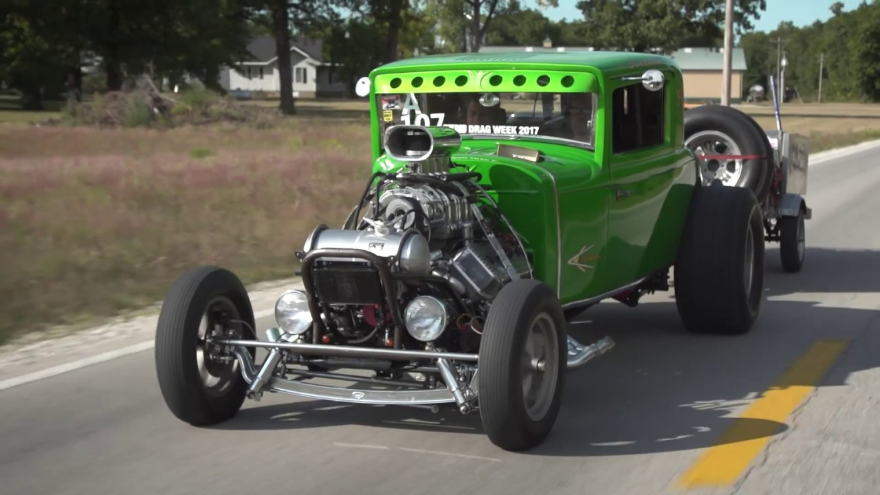 HOT ROD Drag Week 2017 Race Cars on the Road - Day 1 - YouTube