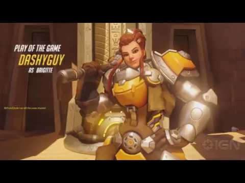 10 Minutes of Overwatch Brigitte Gameplay on the PTR