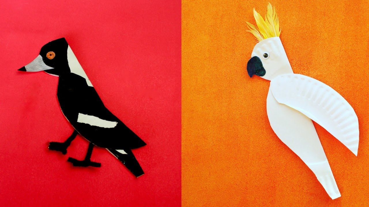 sc 1 st  YouTube & Kids Craft project: Paper Plate Birds - YouTube