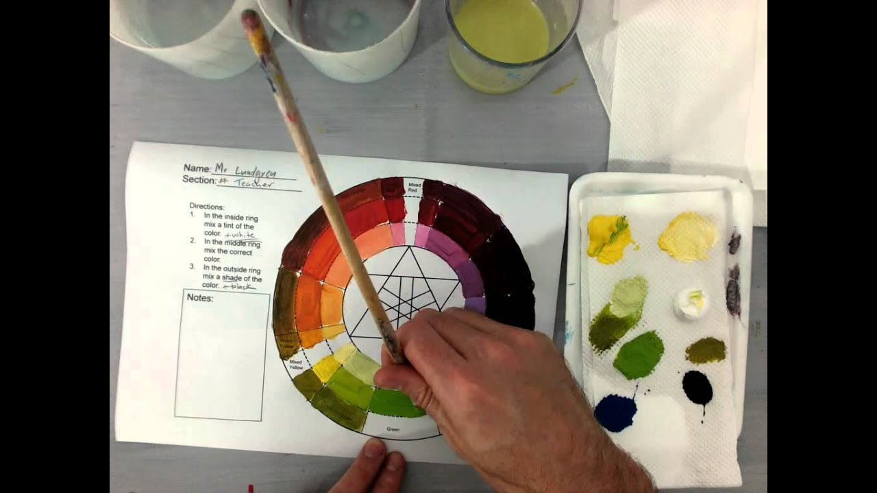 Color Wheel Tints And Shades Green Spectrum Part 3 3 Youtube