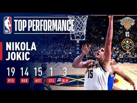 Nikola Jokic Drops A TRIPLE-DOUBLE Against New York | January 1, 2019