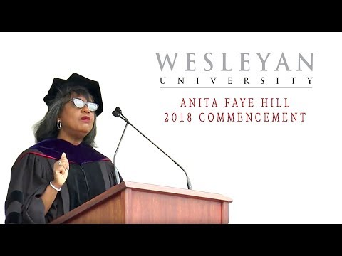 2018 Wesleyan Commencement Address by Anita Faye Hill ...