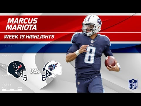 Marcus Mariota Leads His Team to Victory w/ 2 TDs! | Texans vs. Titans | Wk 13 Player Highlights