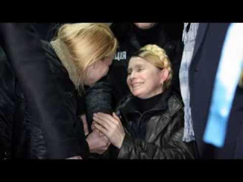 Ukraine's Yulia Tymoshenko freed from prison