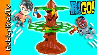 TOY REVIEW: Jumpin' Monkeys Toy Game + They Take Robins Car! Story Fun HobbyKidsTV