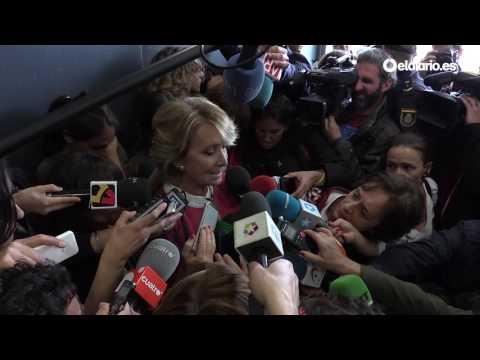 """Esperanza Aguirre llora al hablar de Ignacio González: """"Si es culpable, sería un gran palo"""""""