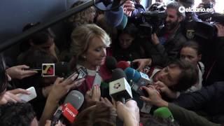 Esperanza Aguirre llora al hablar de Ignacio González: