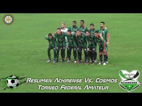 RESUMEN  - ACHIRENSE VS COSMOS - TORNEO REGIONAL AMATEUR 2019