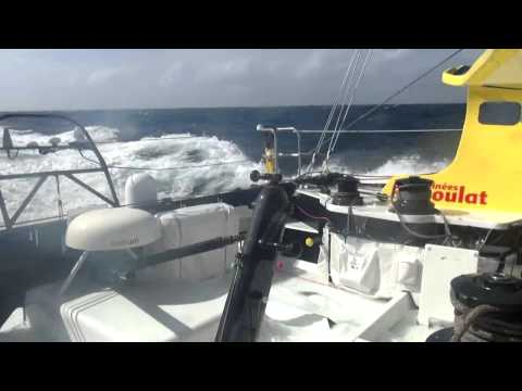 Heavy conditions for Bernard Stamm at the exit of the Indian Ocean