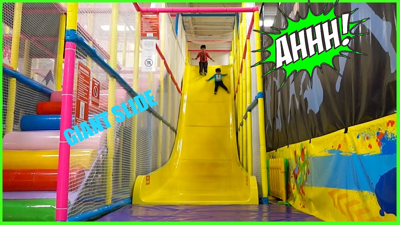 Huge indoor playground fun for kids and family big giant for Indoor play slide