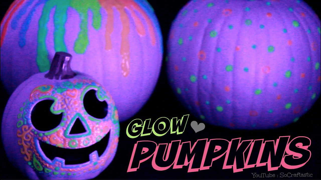 glow in the dark pumpkin halloween diy easy no carve pumpkins how to youtube - Halloween Pumpkin Designs Without Carving