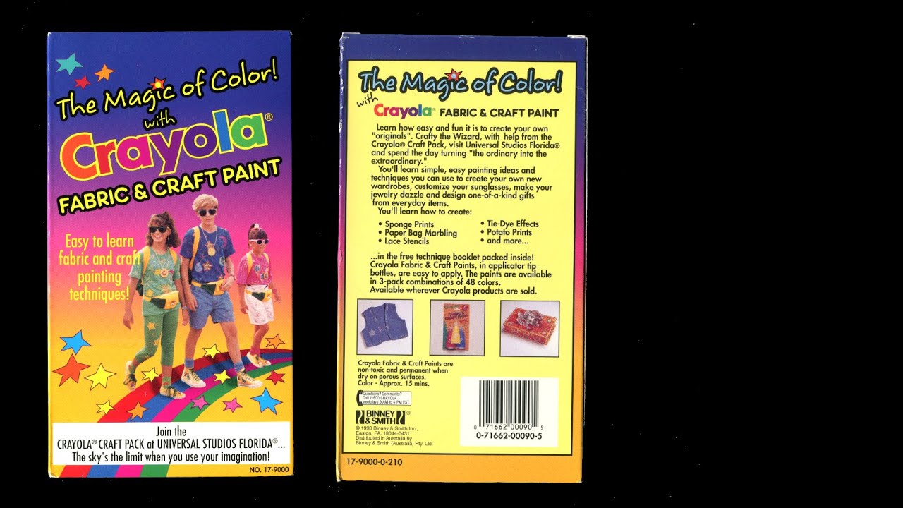 Non toxic craft paint - The Magic Of Color With Crayola Fabric And Craft Paint 1993