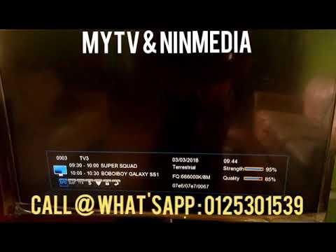 Siaran PERCUMA MYTV Dan NINMEDIA ( Tanpa Bulanan/kontrak/internet )