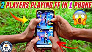 2 PLAYERS PLAYING FF IN ONE PHONE⚡How is it possible?😳