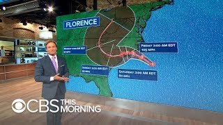 Hurricane Florence's path and threats