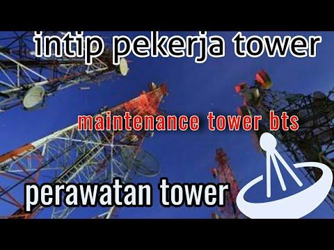 Perawatan tower bts. Maintenance rutin