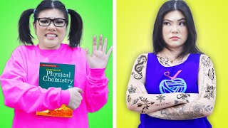 HOW TO BECOME POPULAR | CRAZY POPULAR VS NERD STUDENT IN COLLEGE BY CRAFTY HACKS PLUS