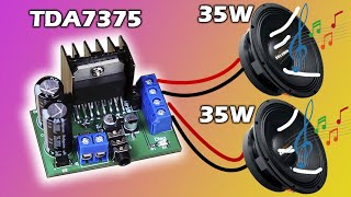 COMO HACER un AMPLIFICADOR de SONIDO SUPER FÁCIL y POTENTE de 35Watts ESTEREO con TDA7375 |muy fácil