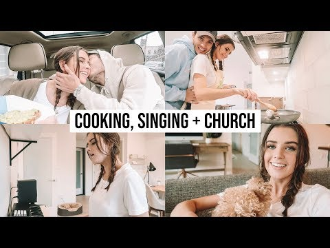 WHAT I EAT IN A DAY, SINGING + CHURCH   DAILY VLOG #2