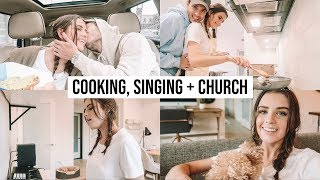 WHAT I EAT IN A DAY, SINGING + CHURCH | DAILY VLOG #2