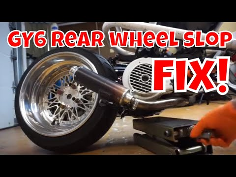 GY6 scooter rear wheel slop wobble fix (RUCKUS & CHINESE SCOOTERS)